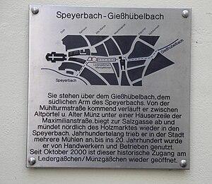 Speyerbach -  Course of the Gießhübelbach through Speyer