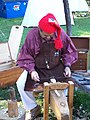 Spoon Carving - Shave horse - Feast of the Hunters Moon - 2006.jpg