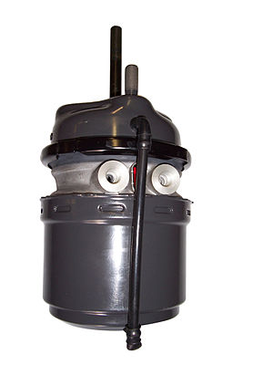 Air brake (road vehicle) - Image: Spring brake air cylinder