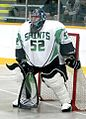St. Catharines Saints goalie white 2015.jpg