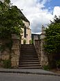 St. Nicholas, Fladnitz - southern stairs with statues of St. Sebastian and Roch.jpg