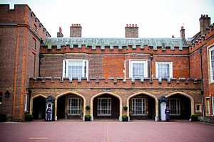 Accession Council - The Proclamation Gallery overlooking Friary Court at St James's Palace, where the proclamation is traditionally first read.