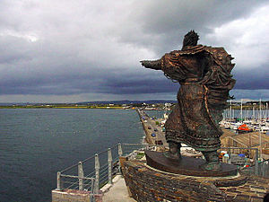 St Brendan the Navigator This modern statue to...