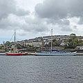 St Mawes Castle and De Hoop in the Penryn River (47635969732).jpg