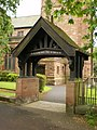 St Peter's, Parish Church of Newton-in-Makerfield, Newton-le-Willows, lych gate - geograph.org.uk - 1316168.jpg