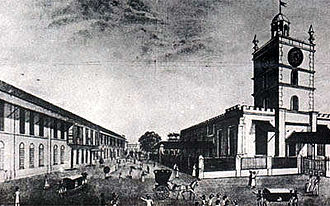 History of Bombay under British rule (1661–1947) - St. Thomas Cathedral constructed by Charles Boone in 1718, was the first Anglican Church in Bombay