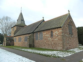 Bickley, Cheshire - Image: St Wenefredes Church, Bickley (geograph 4299647)