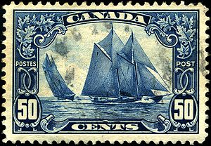 Bluenose - Bluenose postage stamp of 1929