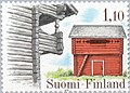 Stamp of Finland - 1979 - Colnect 46897 - Storehouse Luukila Haukipudas - Keskikangas Ylihärmä.jpeg