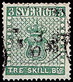 Stamp of Sweeden tre skilling banco.jpg