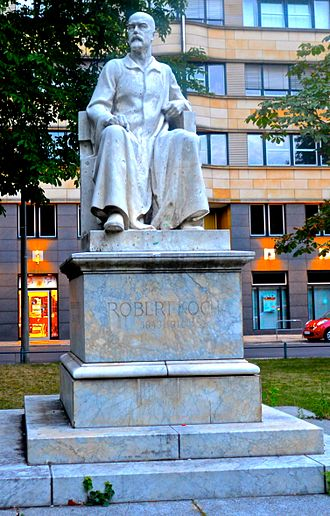 Bacteriology - Statue of Koch in Berlin