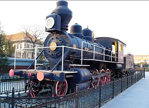 Russian locomotive class Kh - Image: Steam locomotive at Changchun