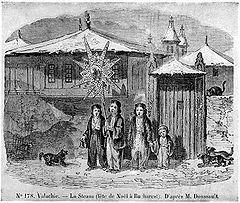Umblatul cu Steaua. Ilustraţie franţuzească din 1842.