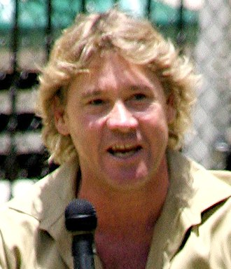 Herping - Steve Irwin, one of the best known TV herpetologists