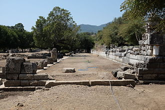 Kaunos - Stoa north of the harbor agora