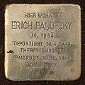 Stolperstein Barbarastr 14 (Lankw) Erich Panofsky.jpg