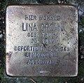Stolperstein Bennigsenstr 17 (Friedn) Lina Crohn.jpg