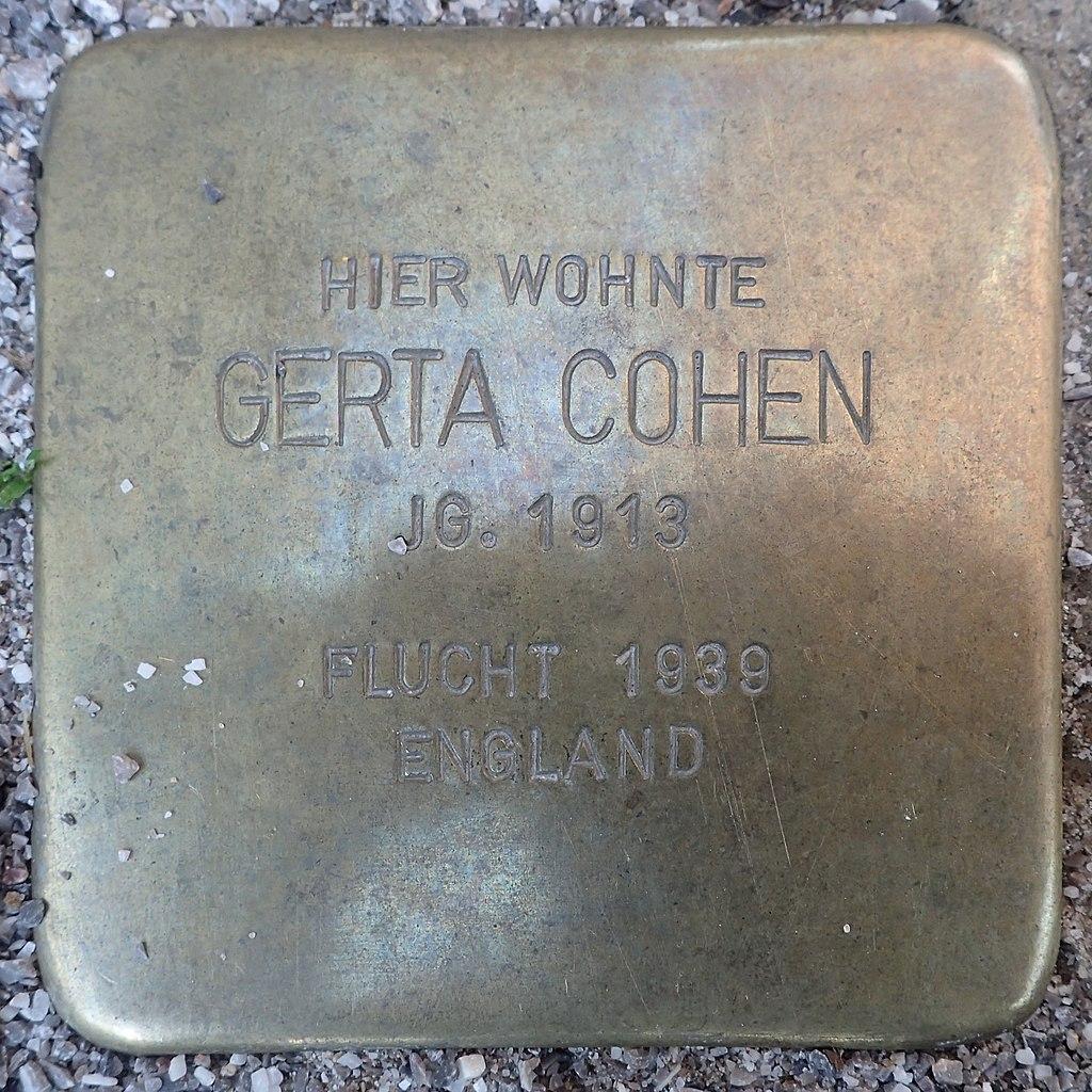 Stolperstein für Gerta Cohen