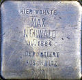 Stolperstein Köln, Max Neuwald (Lütticher Straße 27).jpg