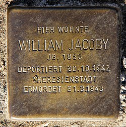 Photo of William Jacoby brass plaque