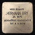 Stolperstein Rodelbergweg 12 (Baums) Hermann Bry.jpg