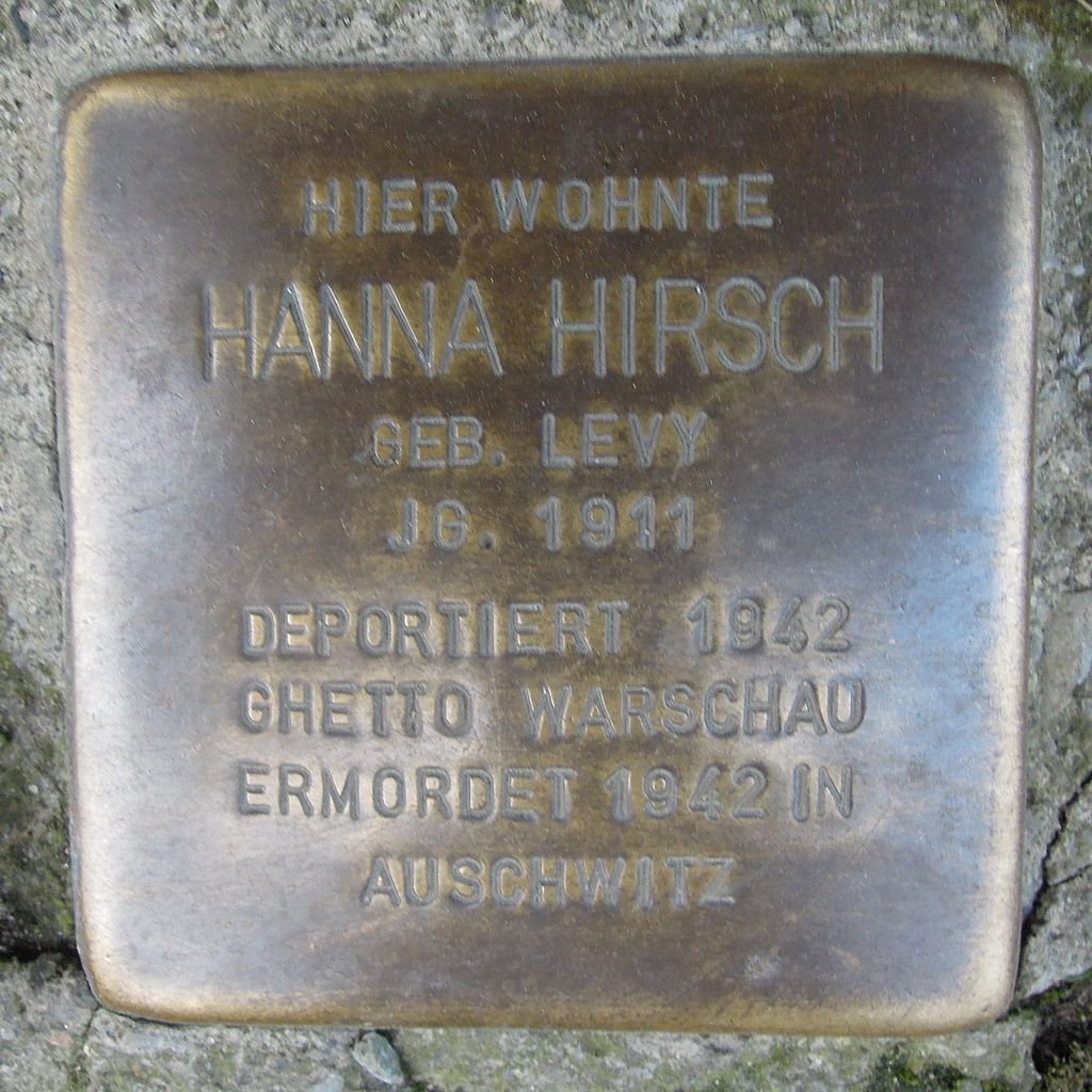 Stolperstein Salzwedel Burgstraße 59 Hanna Hirsch