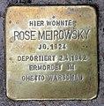 Stolperstein Seesener Str 18 (Halsee) Rose Meirowsky.jpg