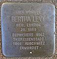 Stolperstein Sierichstraße 84 (Bertha Levy) in Hamburg-Winterhude.JPG