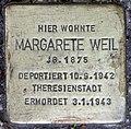 Stolperstein Stierstr 19 (Fried) Margarete Weil.jpg