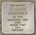 Stolperstein für Dr. Klara Hamburger (Heidelberg).jpg