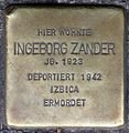 Stolpersteine Krefeld, Ingeborg Zander (Ostwall 48).jpg