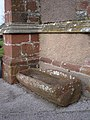 Stone trough, outside main door, St Mary the Virgin, Brixham - geograph.org.uk - 366654.jpg