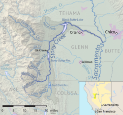 Stony Creek CA basin map.png