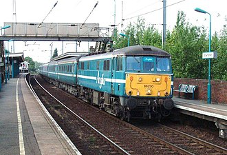 GB Railways - Anglia Railways 86230 at Stowmarket with a Liverpool Street bound service