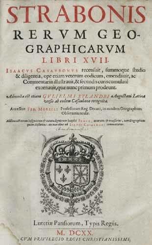 Strabon Rerum geographicarum 1620