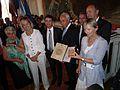 Strasbourg 22 juillet 2012 Remise diplome Yad Vashem Auguste et Jeanne Bieber 02.JPG