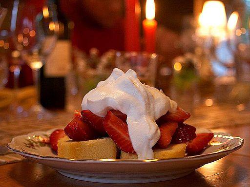 Strawberry shortcake with whipcream