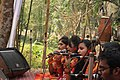 Student perform on Pohela Falgun celebration at Muktamancha in University of Chittagong (06).jpg