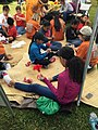 Students participate in festival activities at BioBlitz 2015. NPS Photo. (17679439990).jpg