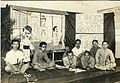 Students with drawings of Hitler and Roosvelt in yokoda clothings 1940.jpg