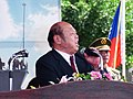 Suao Township Mayor Teng-Huang Lin Speech in 2013 Zhongzheng Naval Base Open Day Opening Ceremony 20130504.jpg