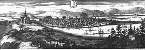 Piteå - The new town of Piteå, engraving made sometime between 1690-1710