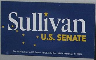Dan Sullivan (U.S. senator) - Bumper sticker from Sullivan's senate campaign