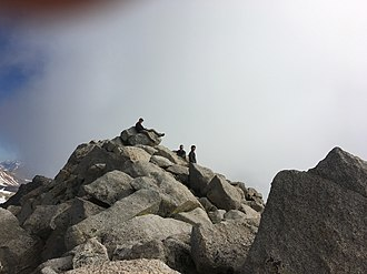 Mount Shavano - A view of the summit of Mount Shavano during the summer hiking season.
