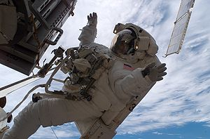 Sunita Williams - Astronaut Sunita L. Williams, STS-116 mission specialist, participates in the mission's third planned session of extravehicular activity (EVA)