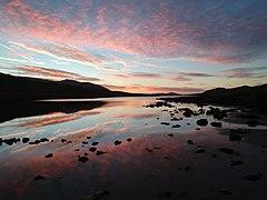 Sunrise on a still Loch Tanna (geograph 6024934).jpg