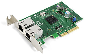 Gigabit Ethernet - Supermicro AOC-SGP-I2 dual-port Gigabit Ethernet NIC, a PCI Express ×4 card