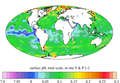 Surface ocean present-day pH, GLODAPv2.png