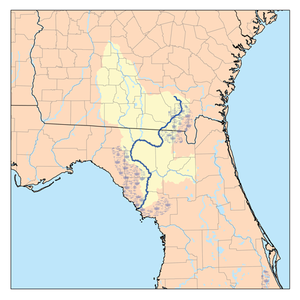 Old Folks at Home - Map of the Suwannee River basin
