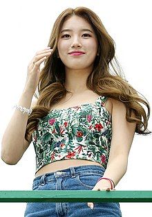 Suzy at the opening of the 2nd Sinchon Water Gun Festival, July 26, 2014 02.jpg